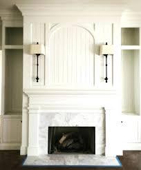 white fireplace with wood mantel white brick fireplace with reclaimed wood mantel