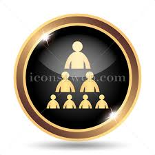 Gold Org Chart Organizational Chart With People Gold Icon