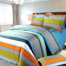 blue striped bedding orange white and multi color rugby stripe pinstripe fashion boys cotton satin full