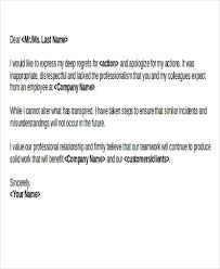 Business Apology Letter Template Magnificent 48 Apology Letter Examples PDF Word Pages Sample Templates