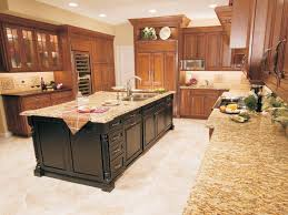 Kitchen Granite Worktop Furniture Adorable Kitchen Interior Design Teak Varnished Kitchen