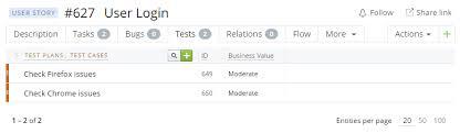 Task / Test Case Template | Targetprocess - Visual Management Software