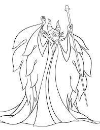 Small Picture Maleficent Coloring Page Disney LOL