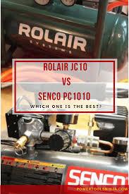 rolair logo. air compressor showdown: senco pc1010 vs rolair jc10 logo