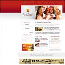 Free Downloads Web Templates Event Planner Template Free Website Templates In Css Html