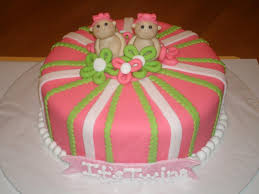 Cute Twin Baby Shower Cakes And Pictures Classic Style
