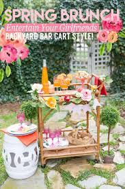 Host a Spring Bar Cart Brunch, All the tips + ideas here!