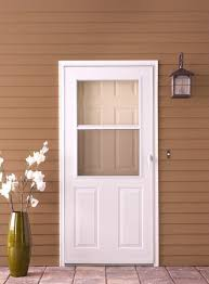 1 2 light panel ventilating white storm door with white hardware 1 2 light panel ventilating white with white hardware