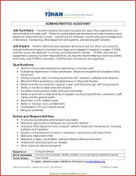 Regular Professional Profile For Administrative Assistant Luxury