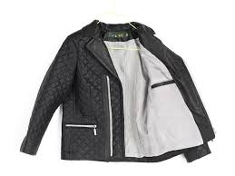 boys leather jacket black faux leather quilted jacket image 6