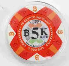 Crypto poker club launched in 2018 looking like it could be a contender flag ship site on the wpn network, which includes fortune jack and black chip poker. Bitcoin Poker Chip 5k Bits Btcc Loaded Chip Oct 24 2019 Affiliated Auctions In Fl