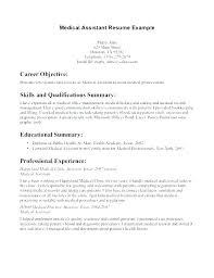 Free Medical Assistant Resume Resume Template Medical Assistant