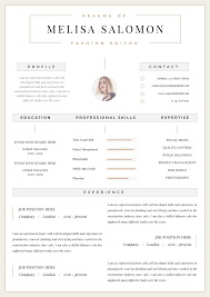 Resume Tem Professional Resume Template Clean Modern Resume Template One