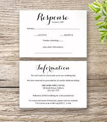 Invitation Information Template Printable Wedding Invitation RSVP Information templates modern 1
