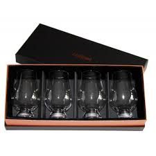 glencairn whisky glass deluxe velvet gift box w 4 standard glencairn glasses