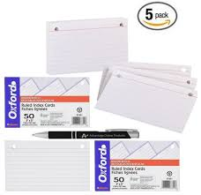 3 By 5 Index Card 5 Pack Value Bundle Oxford 2 Hole Punched 3 X 5 Index Card Binder