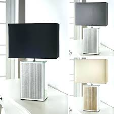 floating square table lamp square table lamp stylish square glitter mirrored base table lamp modern black