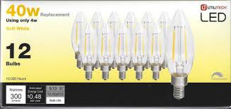 12 pack 40 watt led chandelier bulbs dimmable soft white b10 candelabra new 152