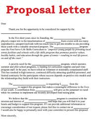 Sample Letter Of Image: Sample Proposal Letter