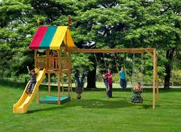 featured play sets are ready to go swing sets that you can customize as you go