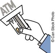 Human Hand Insert A Card Into Atm Machine