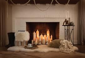 holiday fireplace night