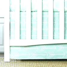 mint green crib sheet arrow baby bedding and skirt white arrows on grey an