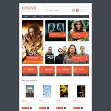 Music Website Templates Amazing DVD Store Responsive OpenCart Theme Theme Design Pinterest