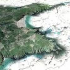 Photofusion Mixture Of Satellite Photos And Nautical Charts