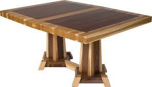 Hickory and Walnut Mixed Wood Table