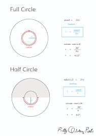 diy tips circle skirt formulas half third and quarter diagram