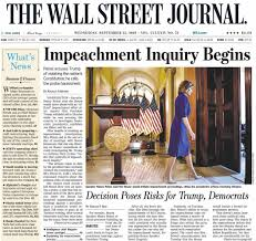 How the top U.S. newspapers are covering the impeachment inquiry into Trump  - MarketWatch