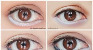 that is why it is pared to a doll s eyes its charm lines in the bination of black and white eyeliners here is how to achieve the same effect