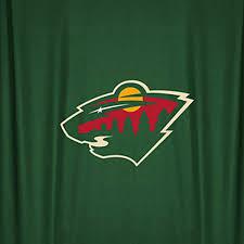 nhl minnesota wild hockey locker room shower curtain