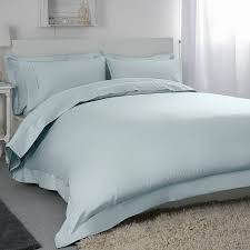 belledorm 400tc egyptian cotton king duvet cover duck egg