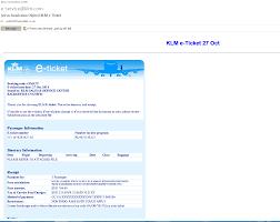 Klm E Ticket Fake Pdf Malware My Online Security