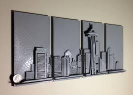 seattle quarter wll art 3d printing industry  on seattle wall art prints with 3d printed seattle skyline wall art 3d printing industry