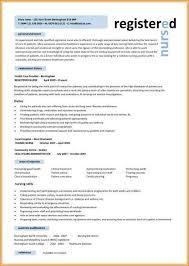 Nursing Cv Template Free Download Resume Resume Designs