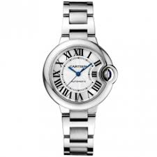 cartier watches for ladies and men at berry s jewellers ballon bleu 33mm steel silver dial ladies automatic watch