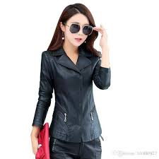 2019 2018 spring and autumn new women s leather jacket high quality fashion slim short leather jacket women s coat from lili880827 41 2 dhgate com
