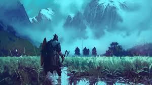 Amazing Neon Vikings Wallpaper Background