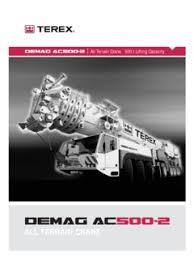Demag Ac500 2 Load Chart Terex Demag Ac 500 2 Specifications Cranemarket