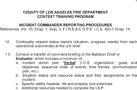 County Of Los Angeles Fire Department Context Training