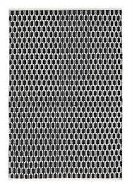 black and cream rug. Aria Black And Light Cream Rug P