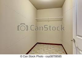 empty walk in closet. Empty Narrow Walk-in Closet With Shelves - Csp38708585 Empty Walk In W