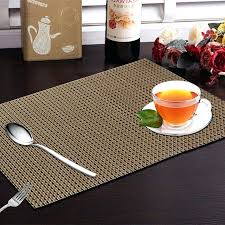 round table placemat industries 6 piece dining table in weaving style brown round coffee mats main