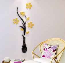 3d vase wall murals for living room bedroom sofa backdrop tv wall background originality stickers gift