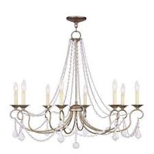 providence 8 light ceiling antique silver leaf incandescent chandelier