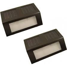 Cole And Bright LED Solar Flush Wall Light With PIR Sensor  Black Solar Led Wall Lights