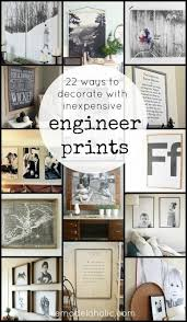 22 ways to decorate with inexpensive engineer prints cheap large black and white prints  on inexpensive large wall art ideas with 57 best budget friendly home images on pinterest craft ideas